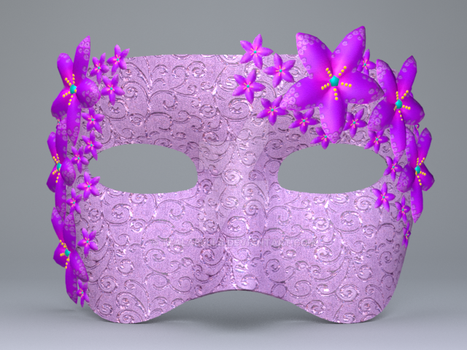 036_Pretty Flower Mask June 2016 by Tealabells