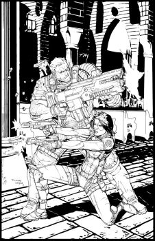 Cable and Domino Inks by devgear