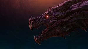Alduin, The World Eater by LuboxArt