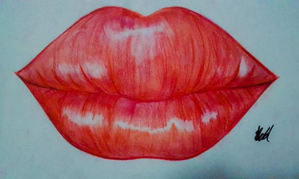 Red lips by Sugarpinklickalips
