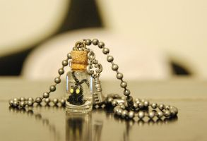Kingdom Hearts Inspired Heartless Necklace by IvrinielsArtNCosplay