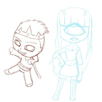 Commission Box: Chibi Style Sketch by Jazzds