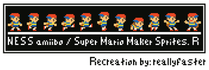 Ness Sprites Re-created (SMM) by Reallyfaster