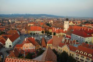 Sibiu from above by BogdanEpure