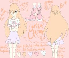 Carita Clamor Reference Sheet (+personality) by mypasteldrawings