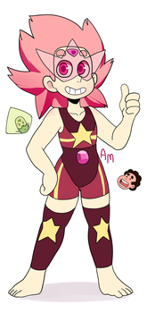 Steven and Peridot Fusion by AngeliccMadness