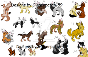 OPEN - Batch of 22 Wolves, all 2 points each by Gingerpatch-59