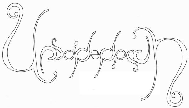 Upside down Ambigram by TheTeloch
