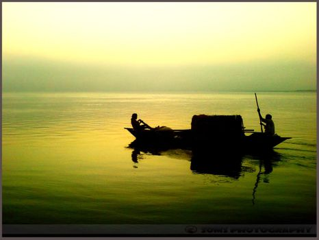 Early morning in the river. by SomsThinking