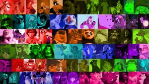 A Rainbow of Animated Movie Characters (Part 3) by Michaelsar
