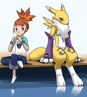 Rika and Renamon by LilFleur