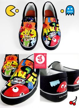 Pacman Slip Ons by Bobsmade