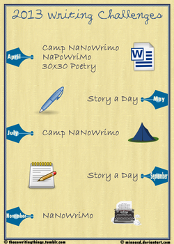 2013 Writing Events Poster by MinnaSD
