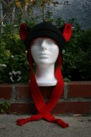 Red and Black Fleece Hat by Jolly-Jess