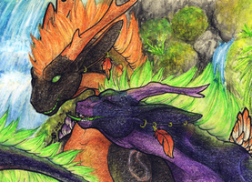 ACEO/ATC: You're My Mate by Samantha-dragon