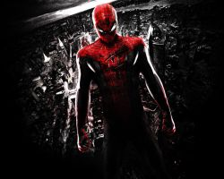 The Amazing Spider-Man. Wallpaper. Red by StalkerAE