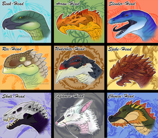 AROKAI Dragon Head Ideas by Araless