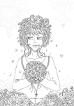 Vampire Bride   Colouring Page/lineart by tea-bug