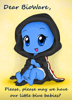 Little Blue Baby by Melicamp