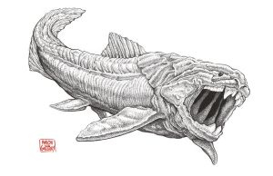 Dunkleosteus by aaronjohngregory