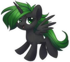 Everfree The filly  (Genderbent colt Prince thorn) by Hornet-of-Hallownest