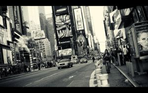 NYC, Cabs and a Chinese Woman by PortraitOfaLife