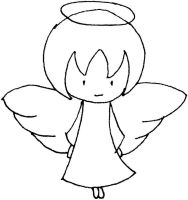 Angel outline    Baby Angel Outline