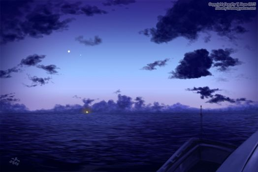 Heading Home with Jupiter and Venus by Dorothy-T-Rose