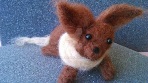 Eevee Needle Felted by Illusionei
