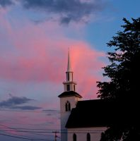 The Church After Dusk by Michies-Photographyy