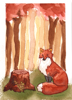 Forest Fox by Cornaline