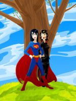 Super Woman and Ms. Mercy by DrZime