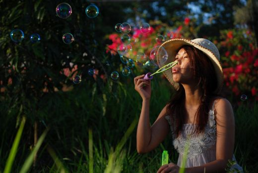 Blowing Bubbles 3 by Ame89