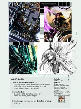 My artist profile by cric