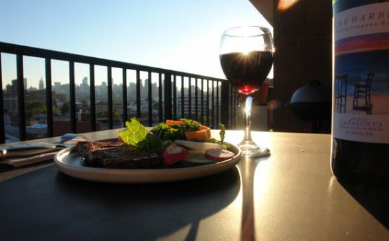 Dinner on the Terrace by HarrisGraber