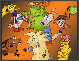 Nickelodeon characters colored by Kaggai-lunar-wolf