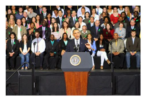 Documenting History - President Obama at UofH by Tikal14