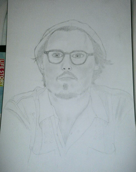 Johnny Depp drawing by MusicalMorphine
