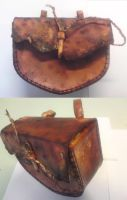 Orc hard leather bag... by Simbaen