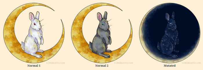 Moon Bunny for LoreBeasts.com by LyndseyLittle