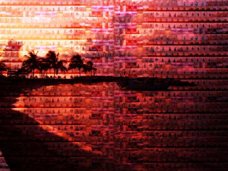 photomosaic 1 sunset by funkililac