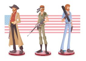 chuck norris color by yoanndurand