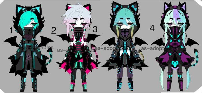 cyber punk demon adoptables closed by AS-Adoptables