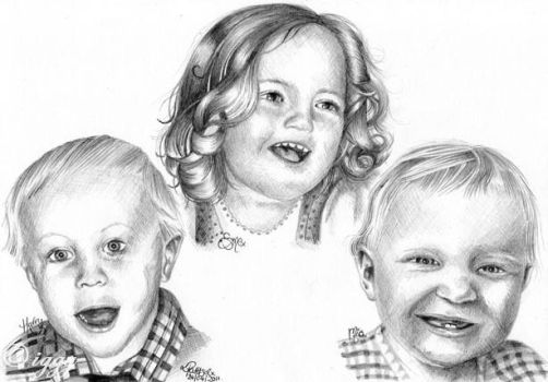 Sketch of children by iggytheillustrator