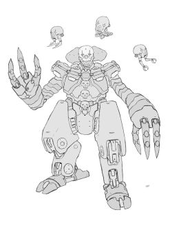 mecha pennywise line by adivider