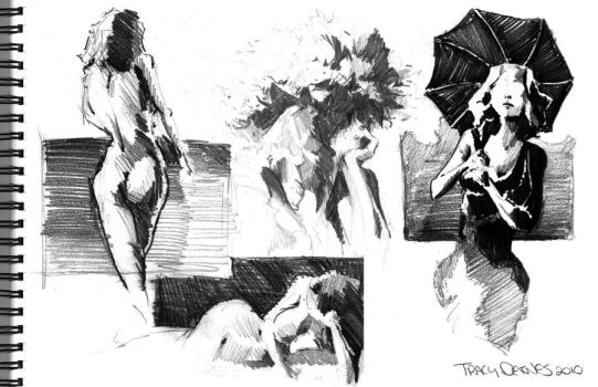 Life Drawing Study: Hannah by t-deines
