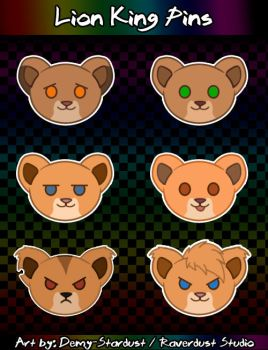Lion King Pins - Lionesses by Demy-Stardust