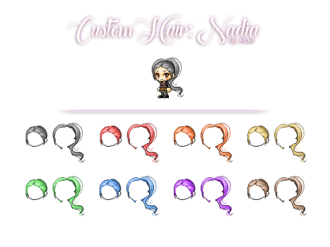 Custom Hair #1: Nadia by elluel