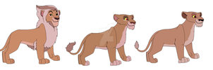 cubs of Zira and Lion (Lion from Steven universe) by RivertailofRiverclan