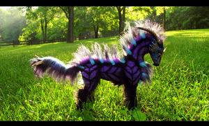 --SOLD--Poseable Fantasy Galaxy Horse! by Wood-Splitter-Lee
